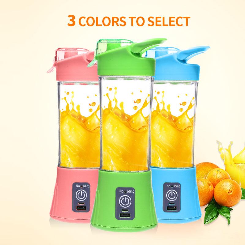 Fruit Juicer USB Rechargeable Juicer Bottle Household Multi function Handheld Blender Machine Bottle Fruit Juice Maker