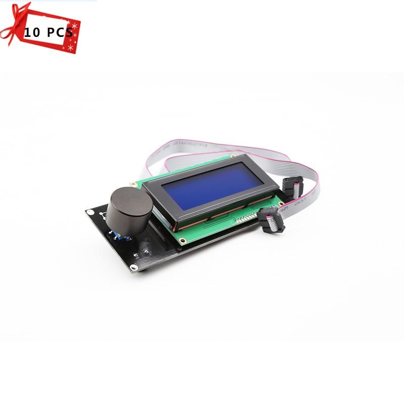 купить  10 PCS/lots 2004 LCD Screen display Smart Controller RAMPS 1.4 Blue Sreen 3D printer part for 3D printer  по цене 8710.7 рублей