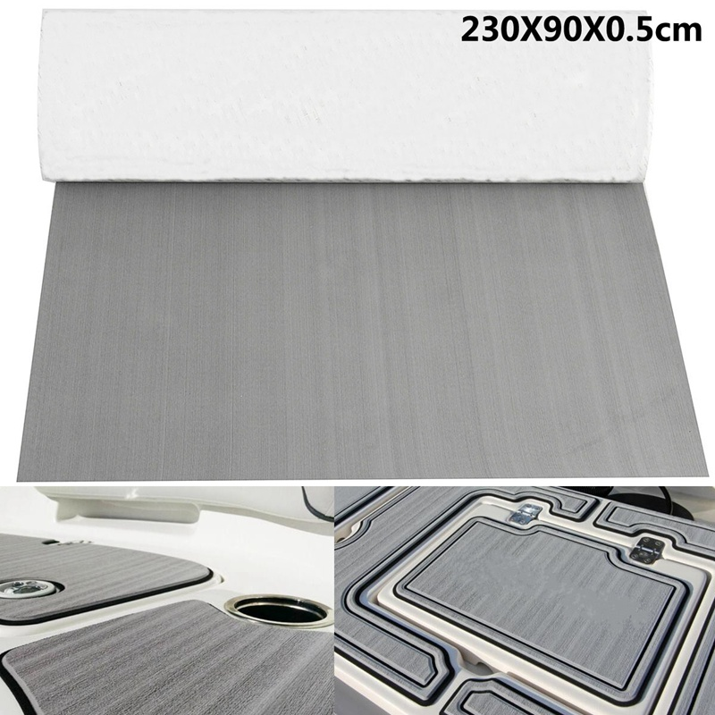 90x230x0.5cm Pure Grey Self Adhesive EVA Foam Teak Sheet Dark Brown Boat Yacht Synthetic Decking Foam <font><b>Floor</b></font> Mat