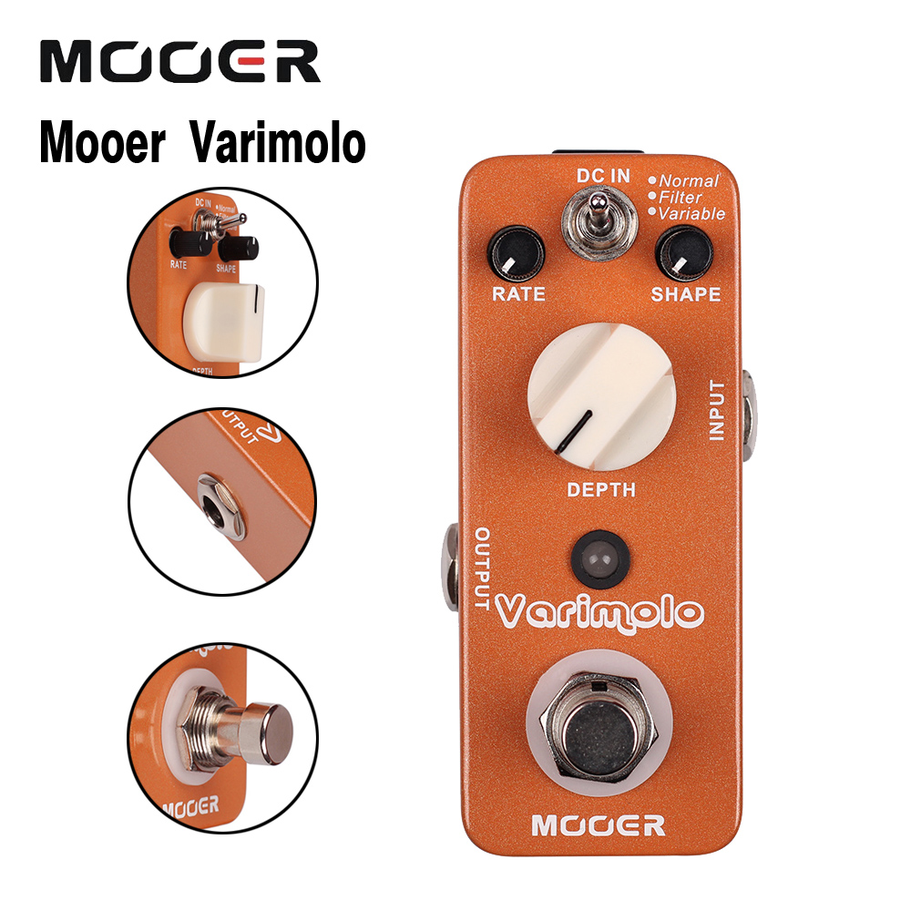Mooer Varimolo Digital Tremolo Guitar Effects Pedal With 3 Modes Normal/Filter/Variable mooer ensemble queen bass chorus effects pedal