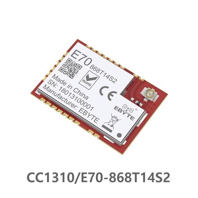 E70 868T14S2 CC1310 868MHz puerto Serial inalámbrico 868M módulo ARM controlador SoC Cortex M3 868MHz transmisión RFID