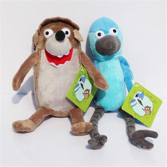 New Arrival Cartoon Regular Show Stuffed Animal Plush 18-24cm Rigby  Mordecai Soft Toy With 980f4e054
