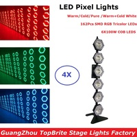 4 шт./лот светодиодные точечные лампочки высокое качество 6X100 W ретро флэш лампы DMX этап эффект DJ фонари с 162 шт SMD трехцветный RGB светодиодный s