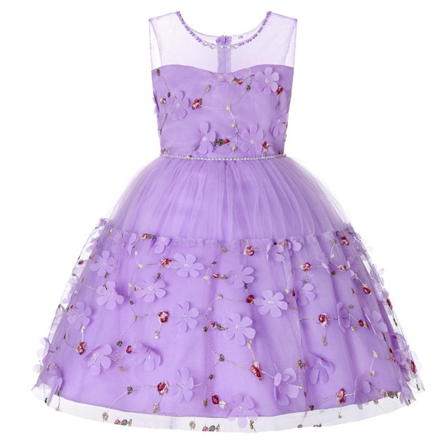 Berngi Kids Infant Girl Lace Petals Children Party Dress