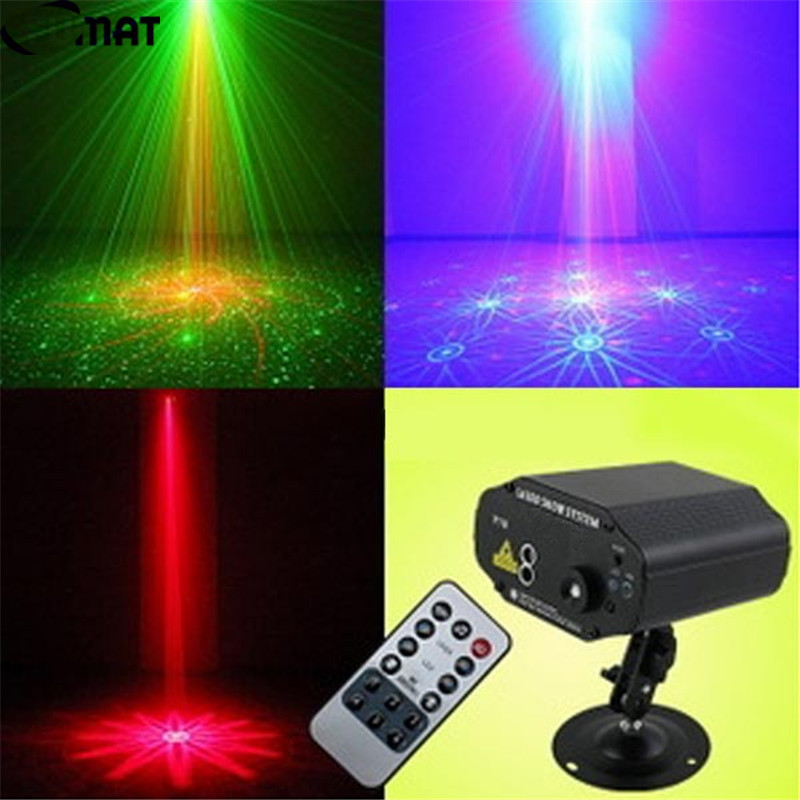FUMAT Remote Control Laser Stage Lighting Sound Control Disco Strobe Light KTV Home Party DJ LED Projector Light DMX Stage Light transctego 9 colors 27w crystal magic ball led stage lamp 21 mode disco laser light party lights sound control dmx lumiere laser