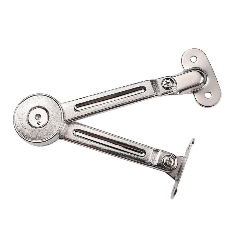 Kitchen Cabinet Door Adjustable Hydraulic Randomly Stop Hinges Polish Hinge Furniture Lift Up Flap Stay Support Hardware High Quality