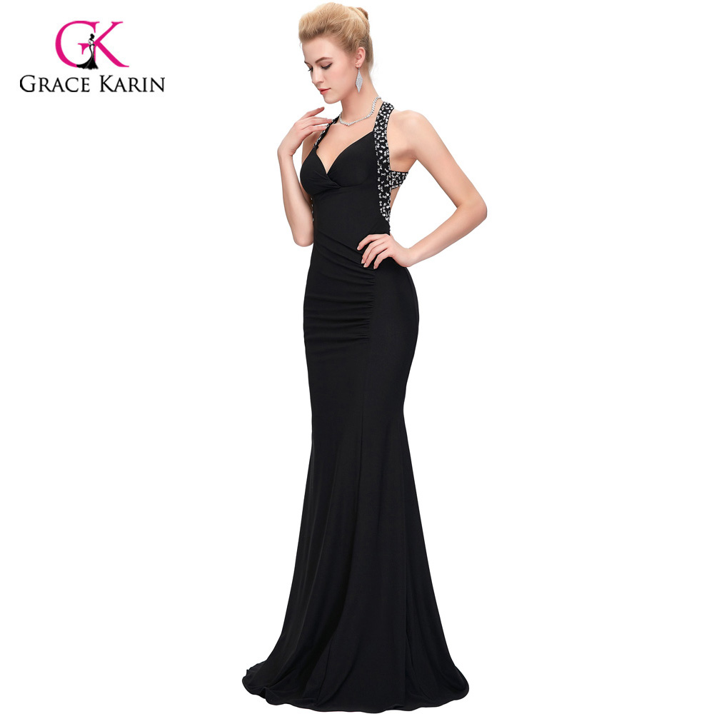 474469d8263 Grace Karin cheap Women Slim line bodycon Prom Dresses Long Evening  Backless Sexy formal Party Dress homecoming dresses 6080-in Prom Dresses  from Weddings ...