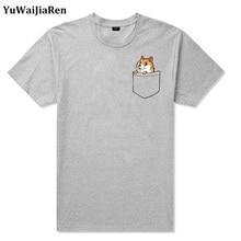 YuWaiJiaRen 5xl T-Shirts Men and Women O-Neck Cotton Hiphop Tshirt Harajuku Anime Pocket Cat Top Fashion Brand Lover T-shirt