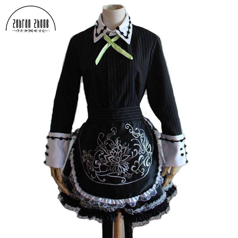 New Arrival Touhou Project Cosplay Izayoi Sakuya Cosplay Anime Maid Costume Dress For Women Girls Custom Made