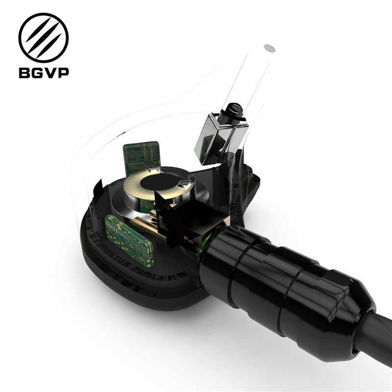 BGVP DS1 PRO słuchawki HIFI 1DD + 2BA technologia hybrydowa douszne IEM typy OCC z mikrofonem/OCC pozłacane z srebrny bez mikrofonu kabel MMCX