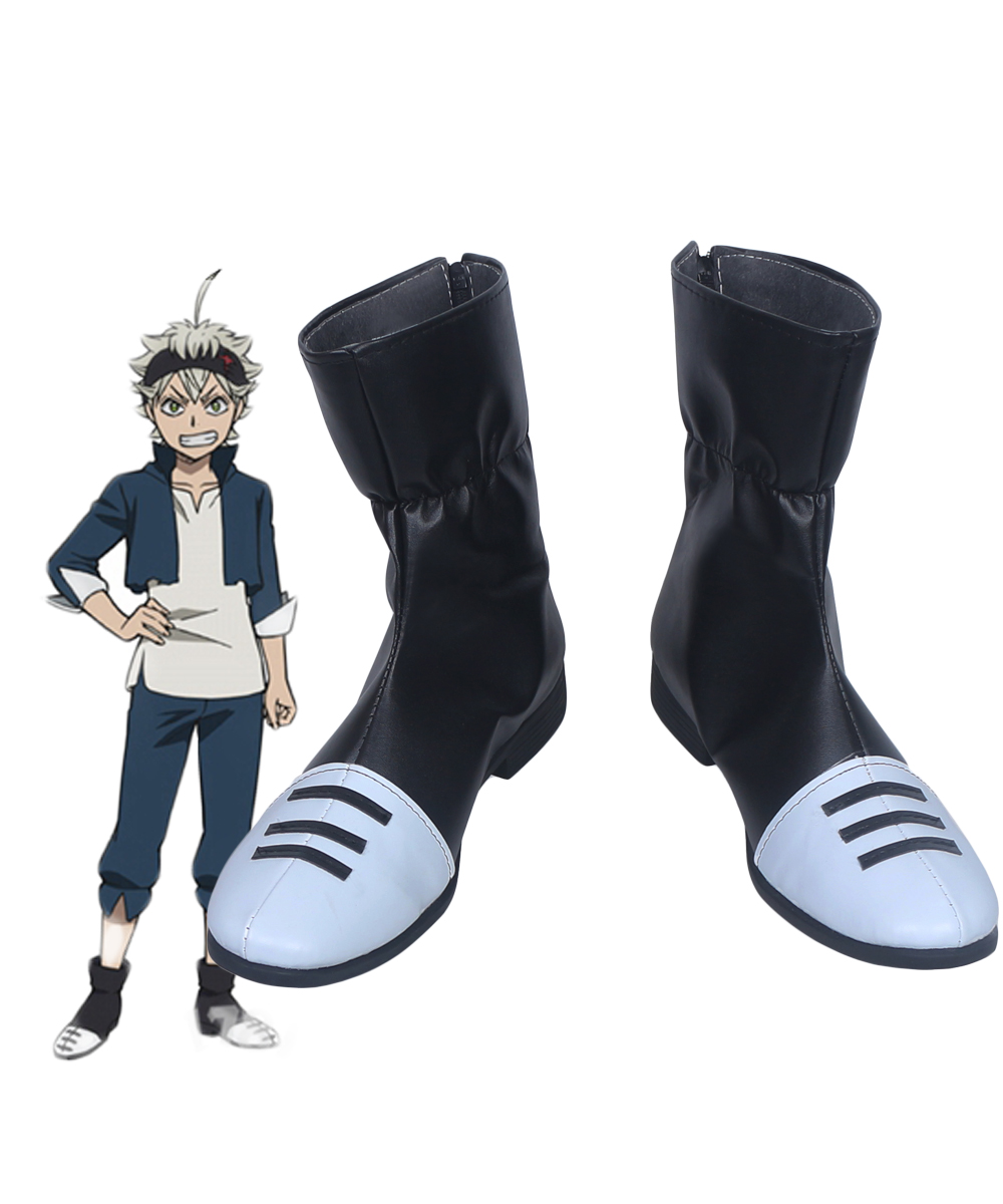 Black Clover Asta Cosplay Boots Shoes Custom Made jordans shoes all black