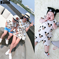 1pc Family Look T-shirts Father Son Mom Baby Daughter Summer Fashion Cartoon Short Cotton Matching Shirt Clothing Outfits