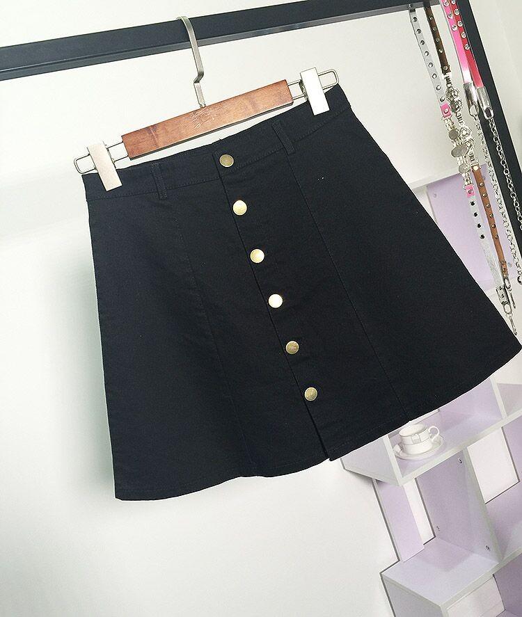 HTB1uExjMFXXXXa1XXXXq6xXFXXXa - American Apparel button Denim Skirt JKP265