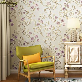 beibehang tapety elegant and fresh pastoral flower wall paper modern fashion bedroom living room backdrop nonwoven 3d wallpaper beibehang 3d pink rose Stereo European Pastoral Wallpaper for Bedroom Living Room Sofa Background Wall paper roll 3d flooring