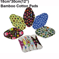 "5PCS 12"" Large Size Bamboo Cotton Sanitary Napkin Washable Cloth Menstrual Pad Heavy Flow Menstrual Liner Reusable Sanitary Pads"