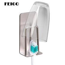 Feigo 1 шт держатель для зубной щетки из нержавеющей стали с