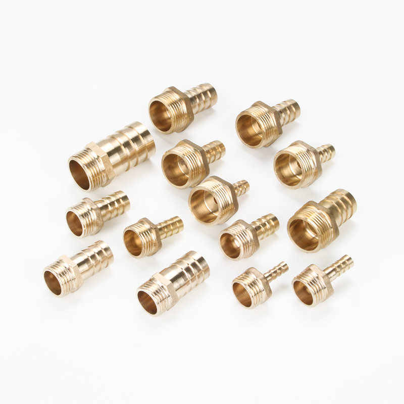"Hose Barb Tail 6/8/10/12/14/16/19/25MM Brass Pipe Fitting 1/8"" 1/4"" 3/8"" 1/2"" 1"" BSP Male Connector Joint Copper Coupler Adapter"