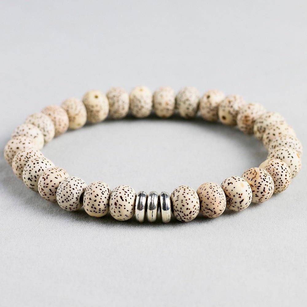 Tibetan Buddhist Handmade Natural Bodhi Seed Mala Beads Bracelet Charm Bracelet For Men Women Yoga Religion Jewelry
