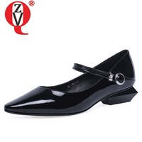 ZVQ hot sale woman shoes spring new concise casual pointed toe woman flats outside comfortable shallow ladies shoes size 34 39