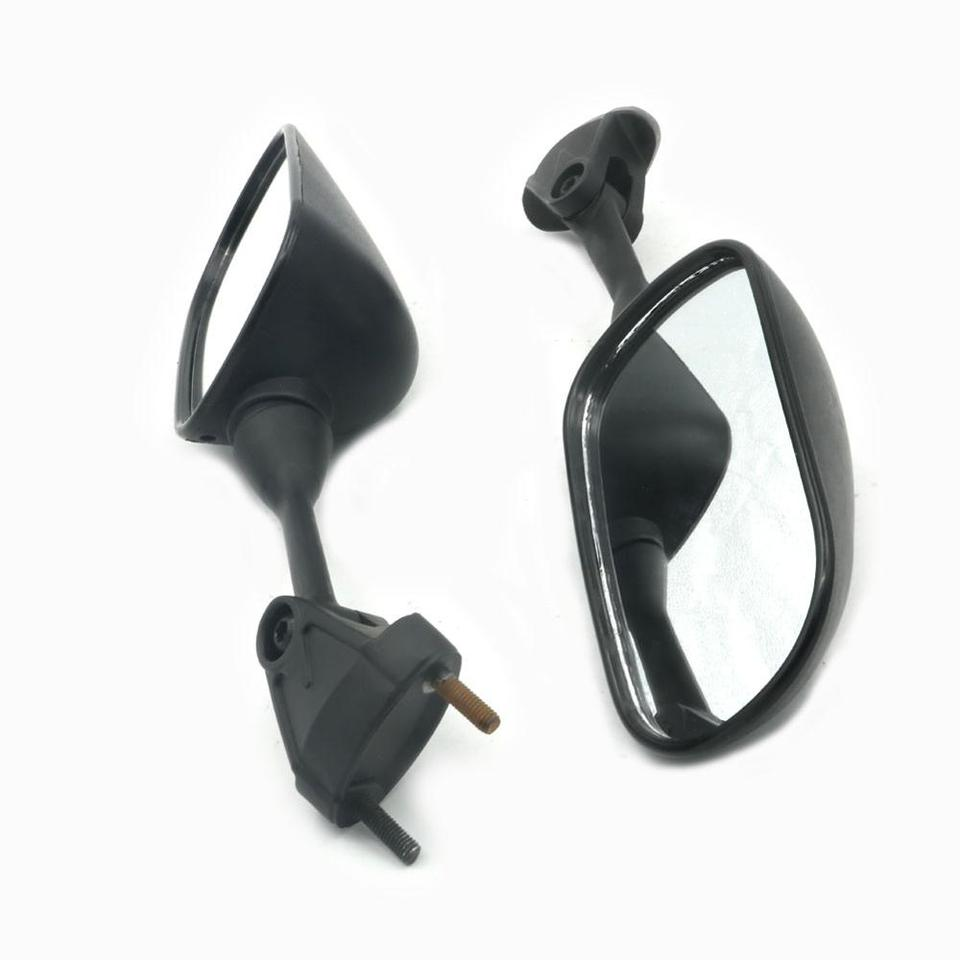 Akozon Pair of Motorcycle Side Rearview Mirror Replace for ZX-6R 05-08 ZX-10R 04-08 Black Rearview Mirrors