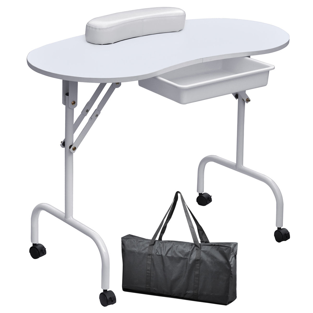 Small Portable Folding Nail Table Nails Manicure Table Home Use Nail Salon Furniture For Nail Manicure цена