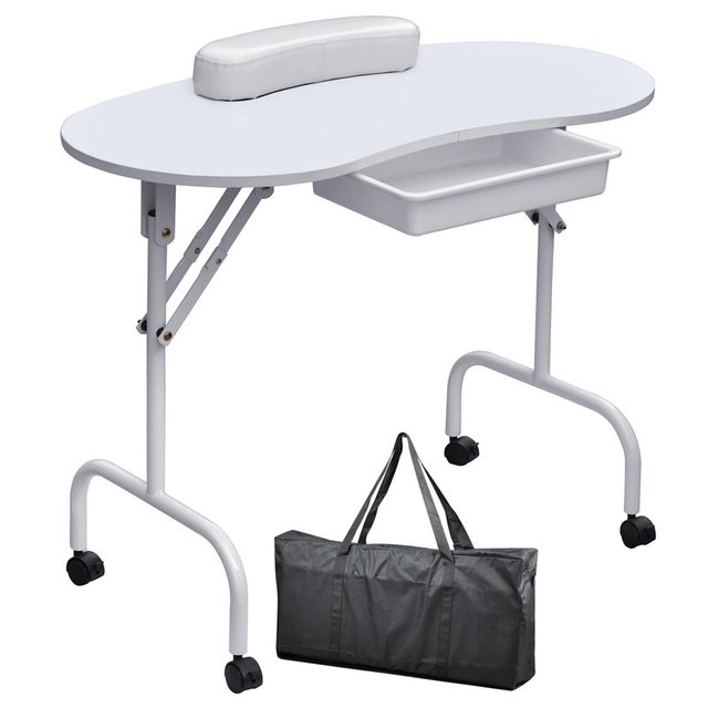 Small Portable Folding Nail Table Nails Manicure Home Use Salon Furniture For