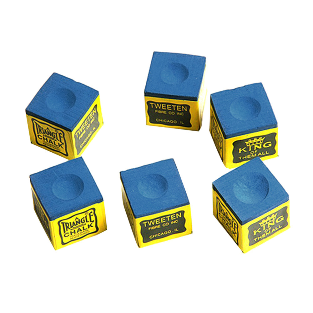 6Pcs Snooker Pool Oily Dry Chalk Billiard Pool Table No-slip Chalk Indoor Sport Accessories New  WHShopping
