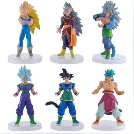 8pcs/lot Anime Dragon Ball Z Figures Fifty-fifth Generation DIY Toys Collectible Dragon Ball Super Saiyan Action Figure z generation 1j10050