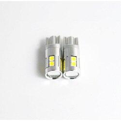 4x super bright led t10 w5w voiture lampe 9 smd 3030 EMC auto lecture parking brouillard marqueur arrière lumière 152 194 T10 LED 12 v blanc 6000 K