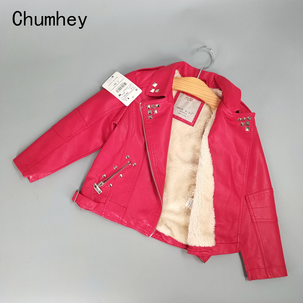 3-10T Winter Girls Coat Faux Leather Thicken Warm Fleece Jackets Outerwear Kids Coats Girls Clothing Children Clothes Red3-10T Winter Girls Coat Faux Leather Thicken Warm Fleece Jackets Outerwear Kids Coats Girls Clothing Children Clothes Red