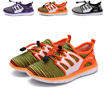 JUFOYU Anak Sepatu 2018 Baru Anak Kelapa Olahraga Rekreasi Musim Semi Sepatu Gradien Warna Tunggal Mesh Bernapas Sepatu Gadis Terbang '