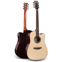 41 Inch Solid Spruce Acoustic Guitar Body Cut Chaylor Guitar Real Abalone Face Single Guitar Metal