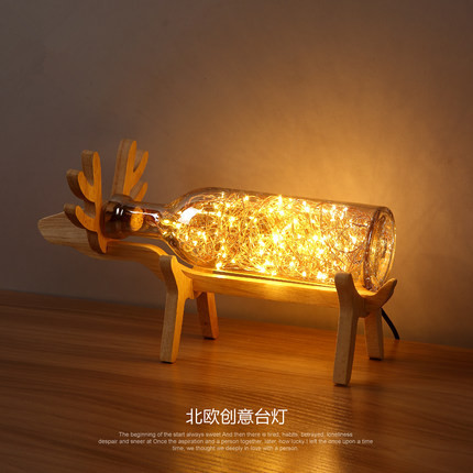 Iwhd modern led desk lamp wooden deer table lamps creative lovely iwhd modern led desk lamp wooden deer table lamps creative lovely fixtures for children study room bedroom bar lamparas de mesa in table lamps from lights aloadofball Gallery