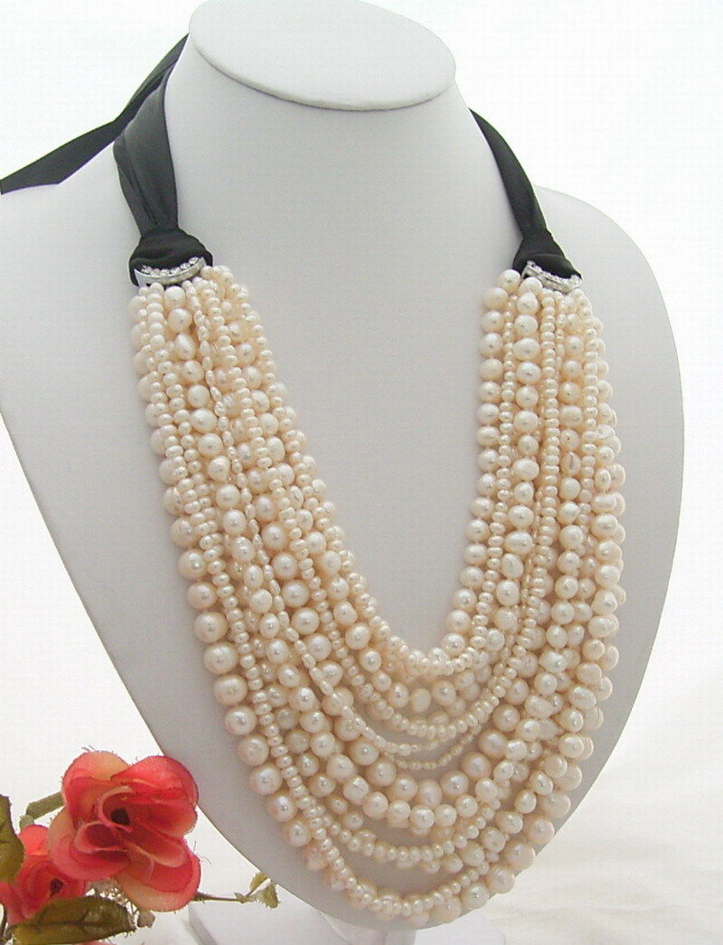 Amazing! 15Strands White  Pearl NecklaceAmazing! 15Strands White  Pearl Necklace