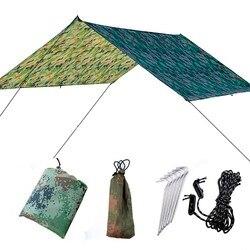 Ultralekka przenośna markiza hamakowa na zewnątrz duże wiszące namioty odporne na zużycie składane odporne na promieniowanie UV wodoodporne wielofunkcyjne