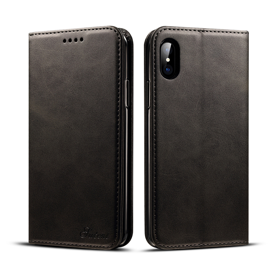 !ACCEZZ Luxury Leather Phone Case Card Pocket Full Protective Cover For iphone X XS MAX XR Wallet Flip Cases Shell Stand Holder (4)