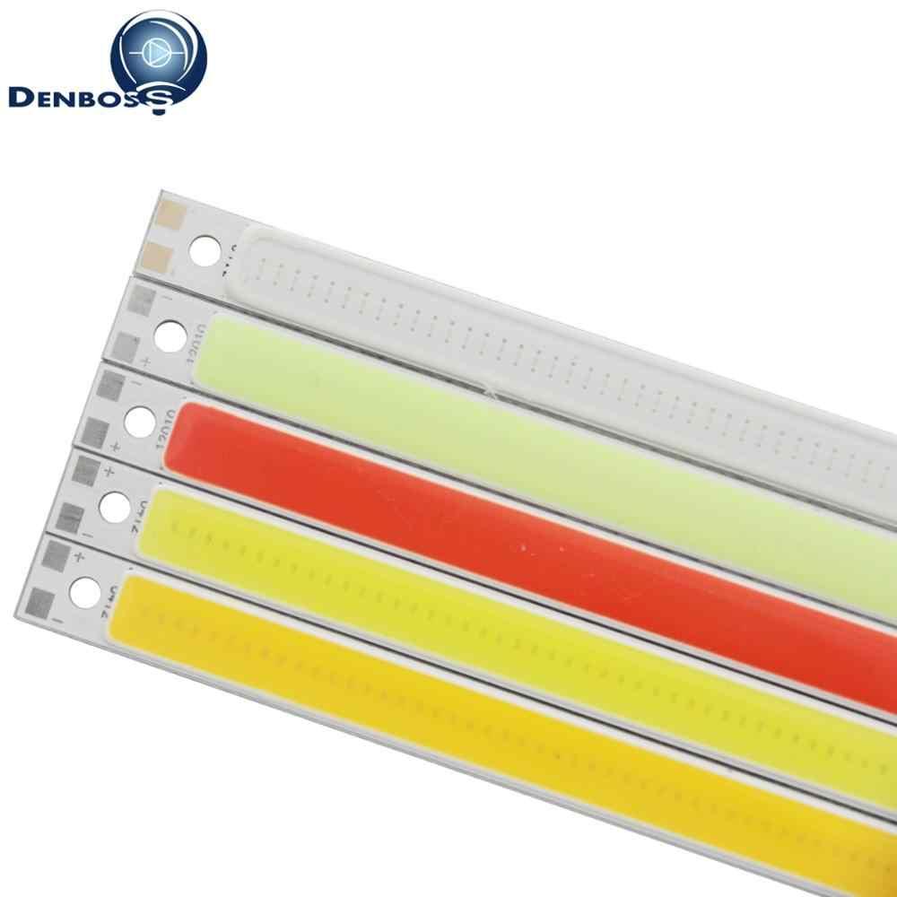 Allcob COB LED Strip 120 Mm 10 Mm Lampu Lampu 9V DC 12V 10W Warm Putih Biru merah Hijau Flip Chip untuk DIY COB LED Tabung