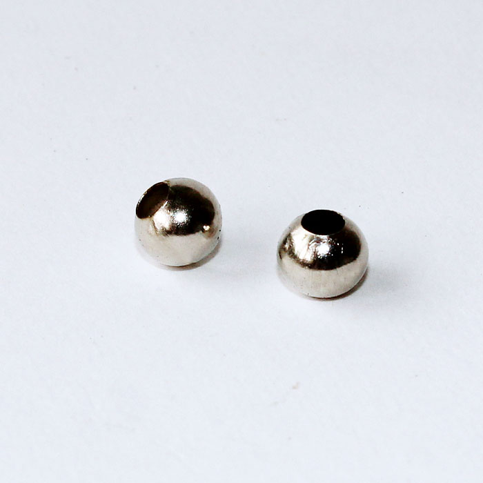 Rhodium Plated Dia. 2/3/4/5/6/8/10mm Metal Crimp Spacer Beads DIY Fashion Jewelry Accessories Findings