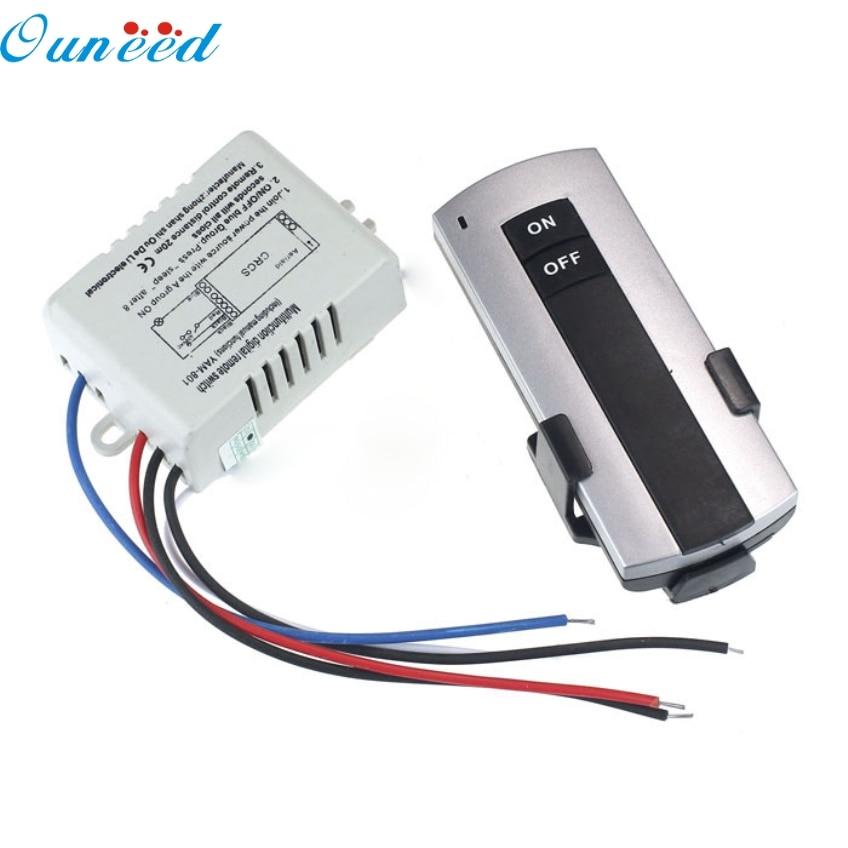 Ouneed Creative 220V Wireless 1Way LED Lamp Light Remote