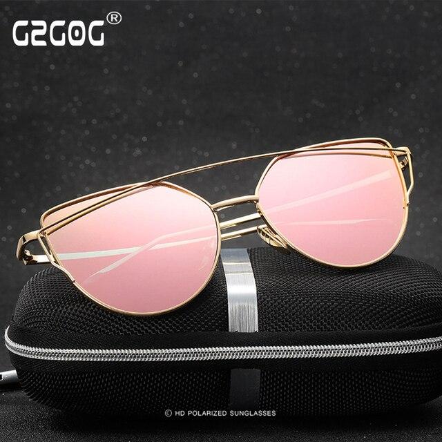 272c744dd3 Gzgog moda gafas de sol de las mujeres populares marca diseño hd lente  polaroid polarizado gafas