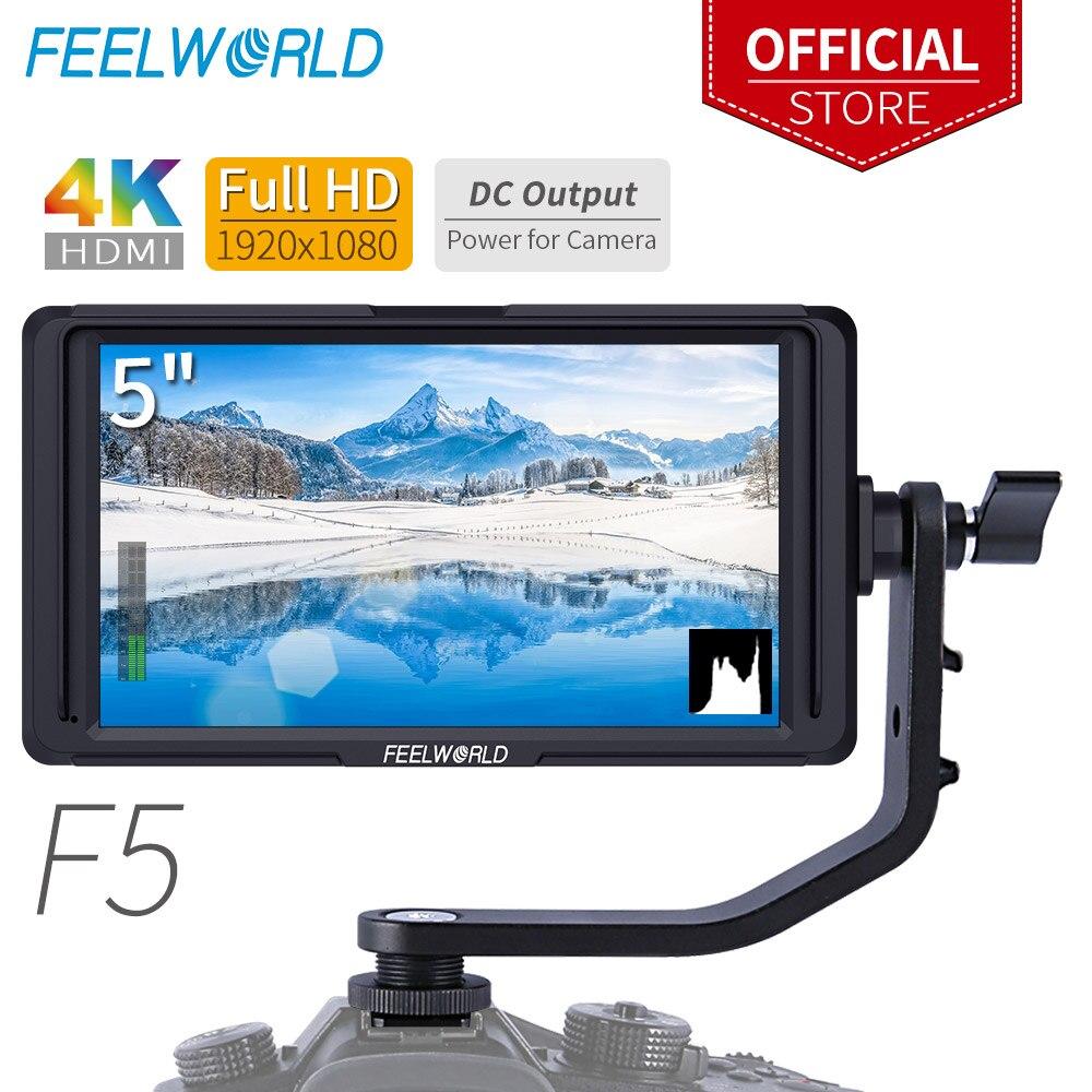 FEELWORLD F5 5 DSLR On Camera Field Monitor Small Full HD 1920x1080 IPS Video Peaking Focus