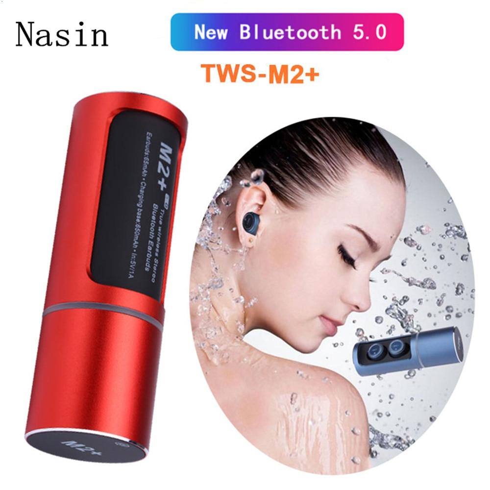 Nasin M2 TWS True 5 0 Bluetooth Earphone Earbuds Earpiece Mini Noise Canceling and Waterproof Earphones