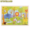 UTOYSLAND 7 Style 60-Piece Brain Teaser Wooden Jigsaw Puzzle Toys Game Magination Intellectual Educational Kid Toy Children Gift