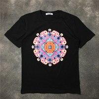 New Baolideng 2017 Men Color Retro Geometry Peacock T Shirts T Shirt Hip Hop Skateboard Street Cotton T Shirts Tee Top #E4