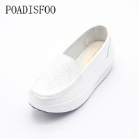 11 11 Genuine Leather Photo Women S Fashion Wedges Shoes Casual Slippers Platform Shoes Women
