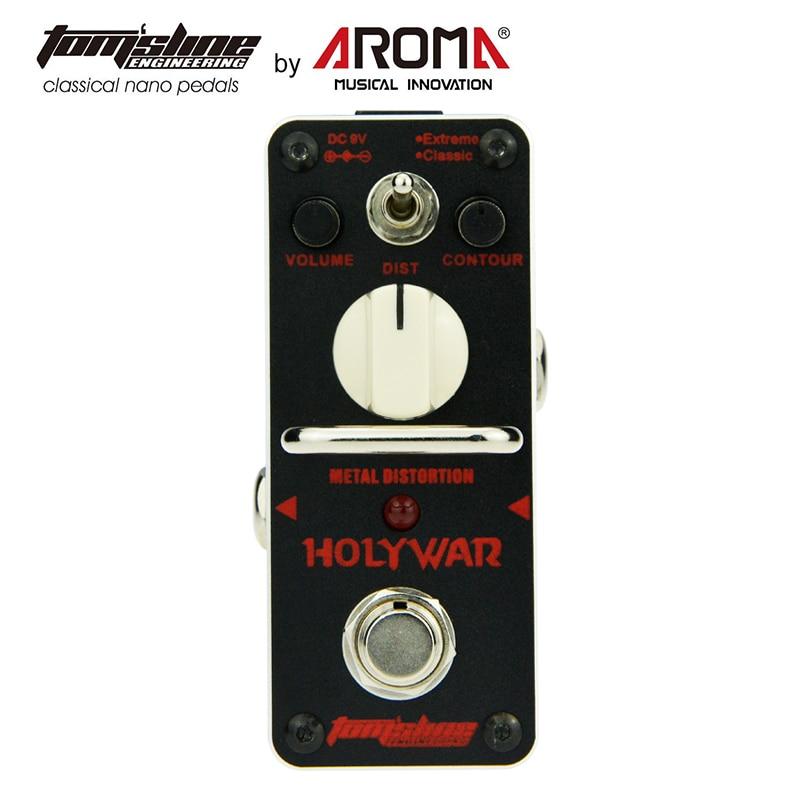 AROMA Metal distortion Mini Analogue Guitar Effect pedal Holy War new aroma ahor 3 holy war metal distortion mini analogue effect true bypass