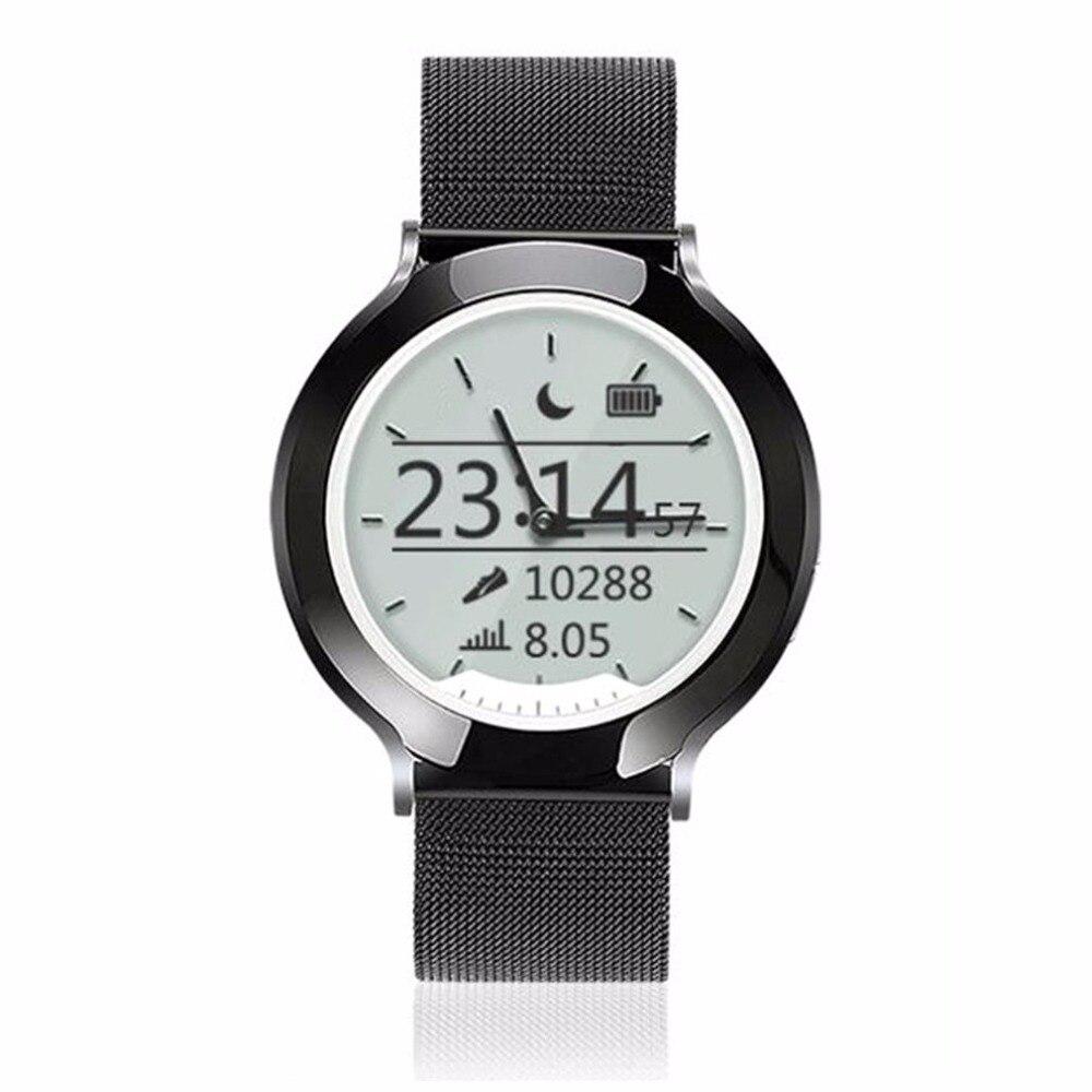 M6 Intelligente Della Vigilanza Del Cuoio Genuino Tradizionale Smartwatch IP68 Impermeabile Luminoso Ombra Schermo Olografico Orologio Da Polso