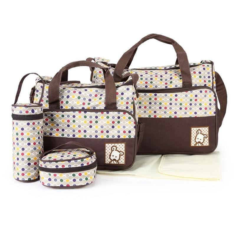 HTB1uF.wVrvpK1RjSZPiq6zmwXXaa MOTOHOOD 39*28.5*17CM 5pcs Baby Diaper Bag Suits For Mom Baby Bottle Holder Mother Mummy Stroller Maternity Nappy Bags Sets