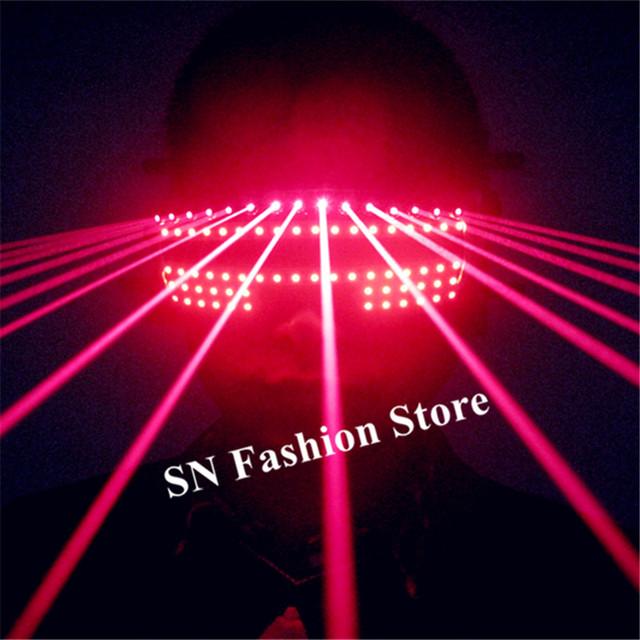 T824 Ballroom Dance Bar Led Costumes Laser Light Glasses