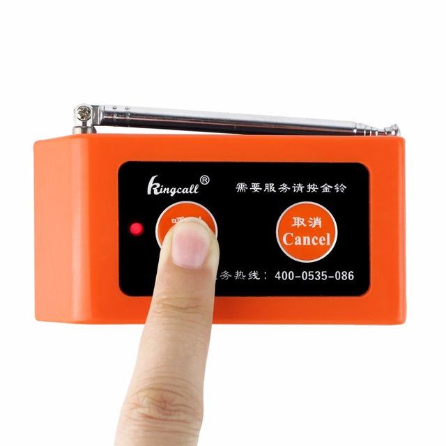10 pcs 433.92 MHz Pager Restaurante Sistema de Paginação Sem Fio Botão de Chamada À Prova D' Água Pager Equipamentos de Restauração F3299Q